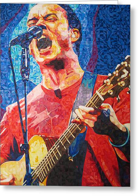 Lead Singer Greeting Cards - Dave Matthews Squared Greeting Card by Joshua Morton
