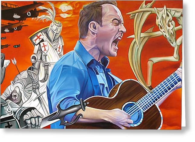 Dave Greeting Cards - Dave Matthews The Last Stop Greeting Card by Joshua Morton