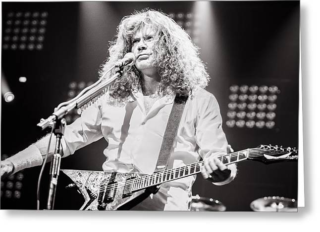 Megadeth Greeting Cards - Dave Mustain from Megadeth. Live 2012 Greeting Card by Lidia Sharapova