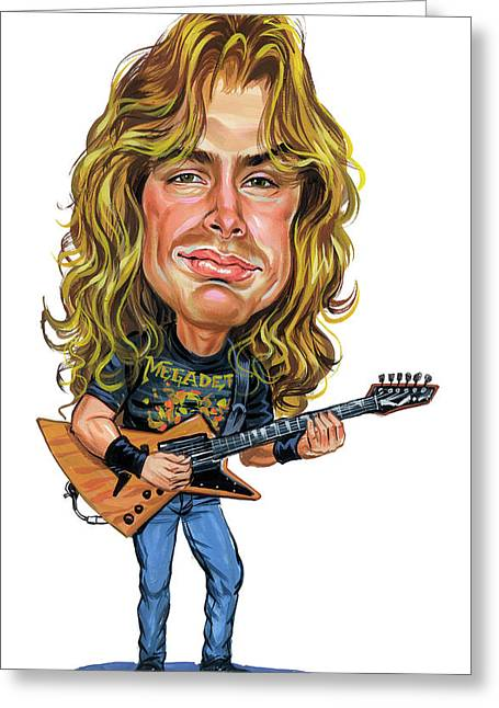 Metal Art Greeting Cards - Dave Mustaine Greeting Card by Art