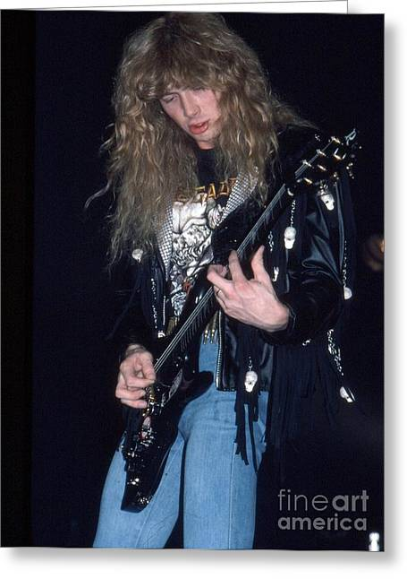 Megadeth Greeting Cards - Dave Mustaine Greeting Card by David Plastik