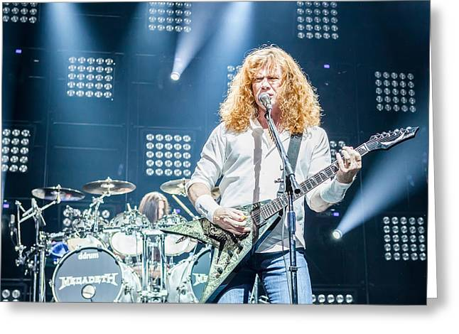 Megadeth Greeting Cards - Dave Mustaine live in Moscow 2012 Greeting Card by Lidia Sharapova