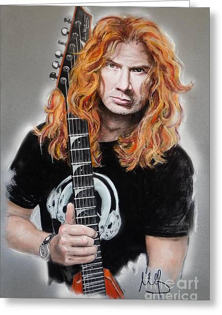 Metallica Greeting Cards - Dave Mustaine Greeting Card by Melanie D