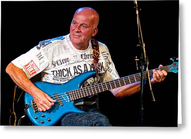 Dave Pegg Bass Player For Fairport Convention And Jethro Tull Greeting Card by Randall Nyhof