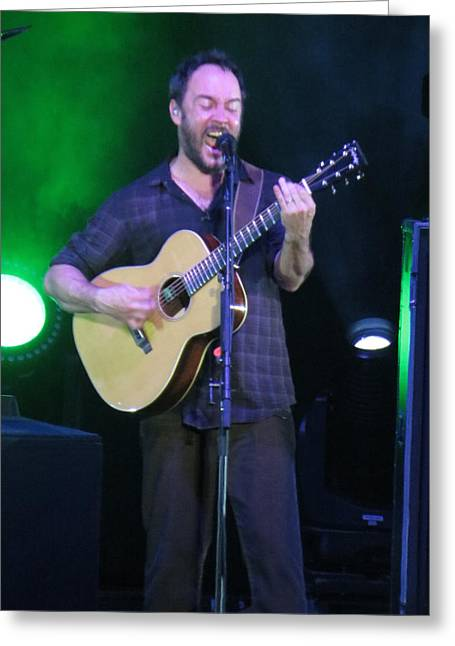 Dave Matthews Band Concert Greeting Cards - Dave rocks Tampa Greeting Card by Aaron Martens