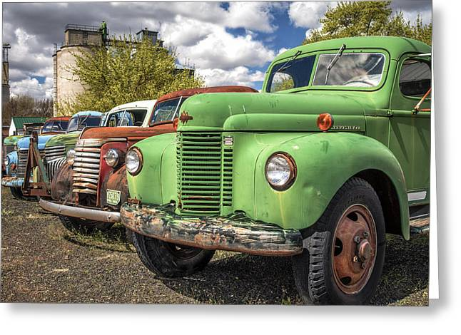 Sprague Greeting Cards - Daves Old Truck Rescue Greeting Card by Kyle Wasielewski