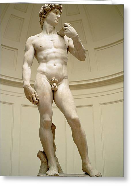David Greeting Card by Michelangelo Buonarroti