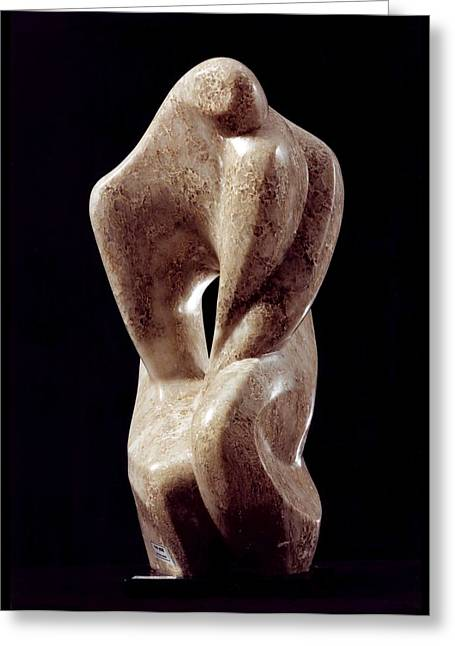 Human Figure Sculptures Sculptures Greeting Cards - David and Jonathan Greeting Card by Shimon Drory