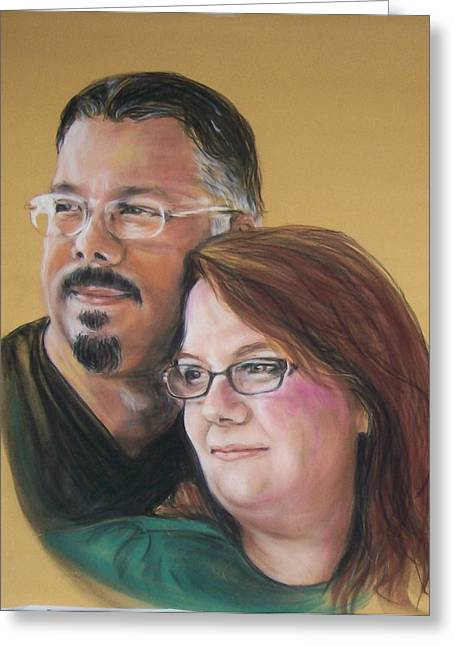 Together Pastels Greeting Cards - David and Laura Greeting Card by Martha Suhocke