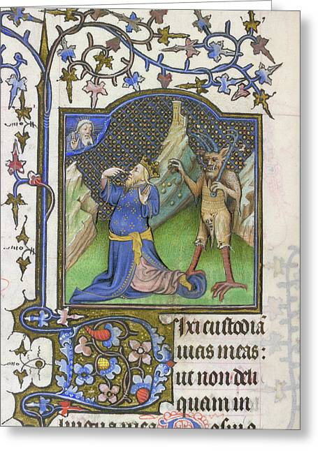 David And The Devil Greeting Card by British Library