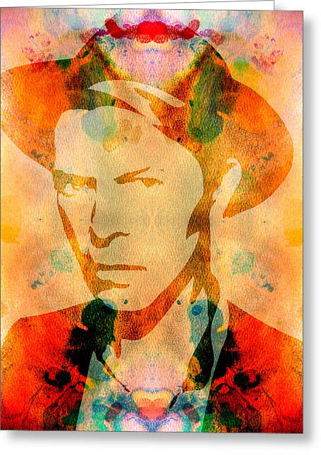Ziggy Stardust Greeting Cards - David Bowie 2 Greeting Card by Andrew Fare