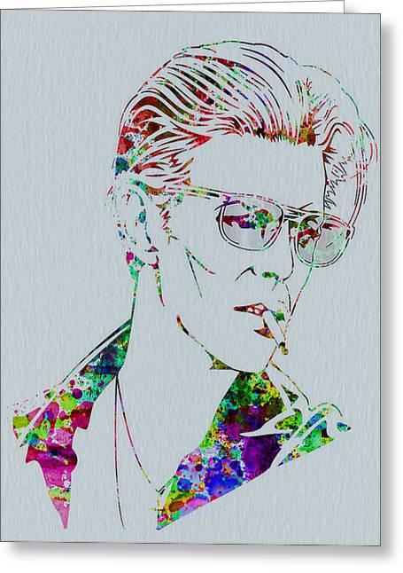 British Music Greeting Cards - David Bowie Greeting Card by Naxart Studio