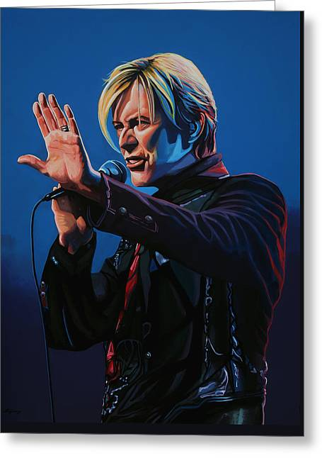 Festival Greeting Cards - David Bowie Greeting Card by Paul  Meijering