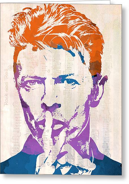 Pop Singer Greeting Cards - David Bowie Greeting Card by Paulette B Wright
