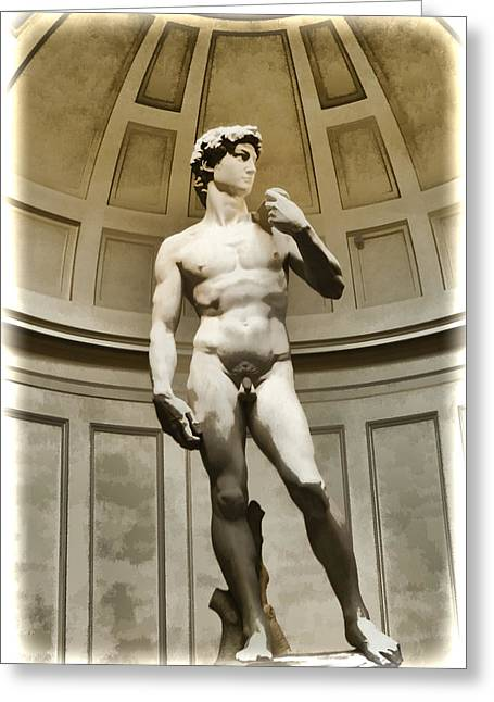 Michelangelo Greeting Cards - David by Michelangelo Greeting Card by Jon Berghoff