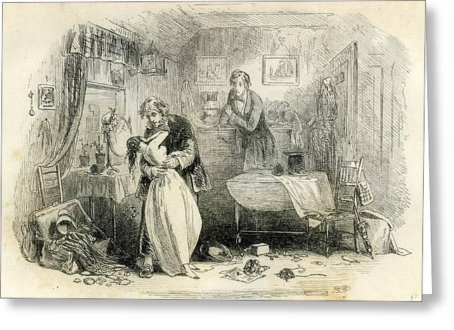 David Copperfield Mr Greeting Card by English School