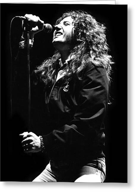 Whitesnake Greeting Cards - David coverdale Greeting Card by Sue Arber