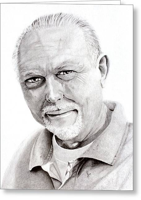 Kd Greeting Cards - David Ewart Portrait Attempt 1 Greeting Card by Kd Neeley