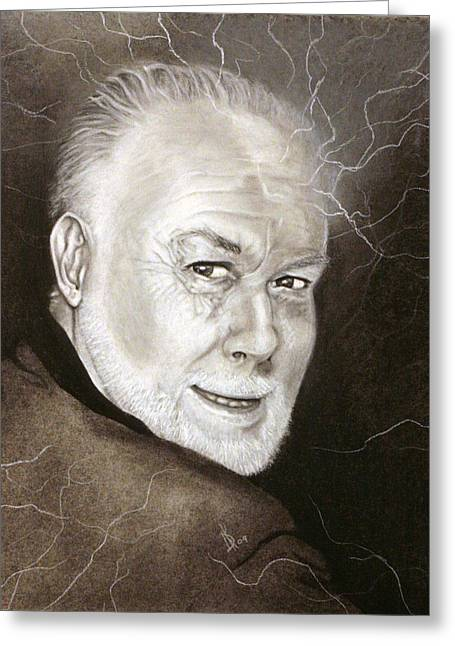 Mad Artist Greeting Cards - David Ewart Portrait Attempt 2 Greeting Card by Kd Neeley