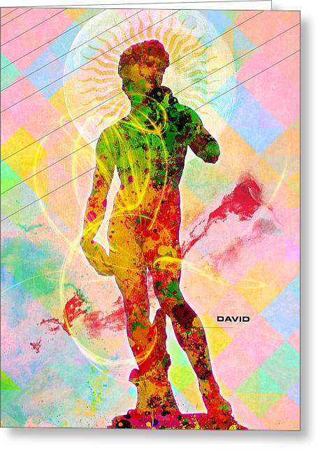 Decorative Greeting Cards - David Greeting Card by Gary Grayson