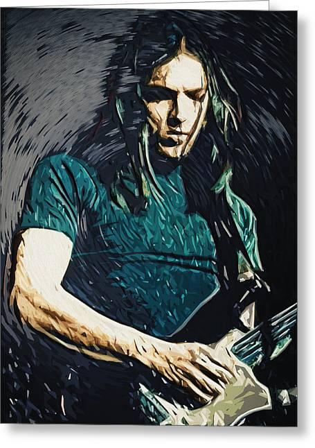 Metal Art Greeting Cards - David Gilmour Greeting Card by Taylan Soyturk