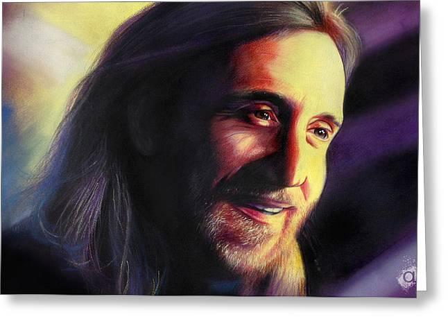 David Guetta Greeting Card by Atish Banerjee