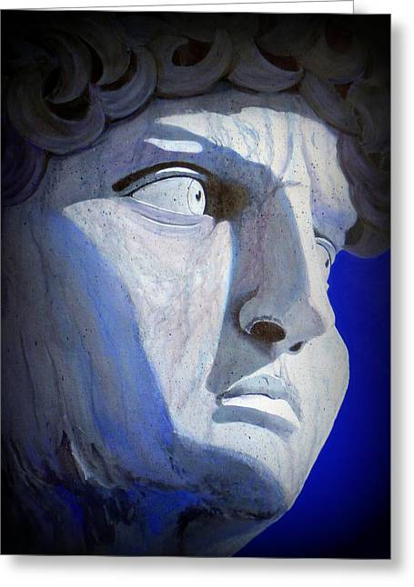 Michelangelo Greeting Cards - David in the Moonlight Greeting Card by Karyn Robinson
