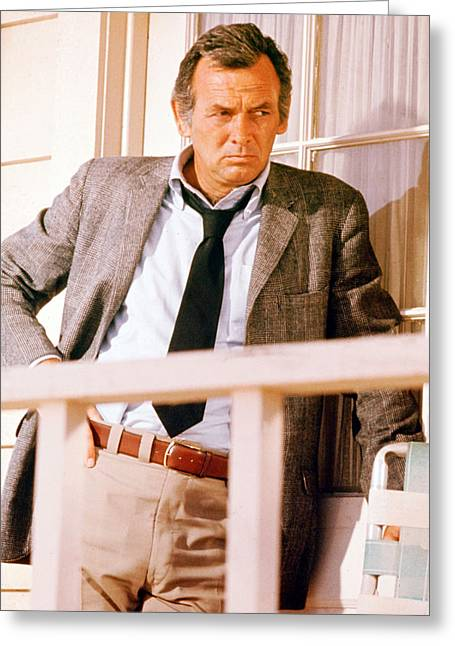Harry Greeting Cards - David Janssen in Harry O  Greeting Card by Silver Screen
