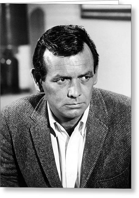 David Photographs Greeting Cards - David Janssen Greeting Card by Silver Screen
