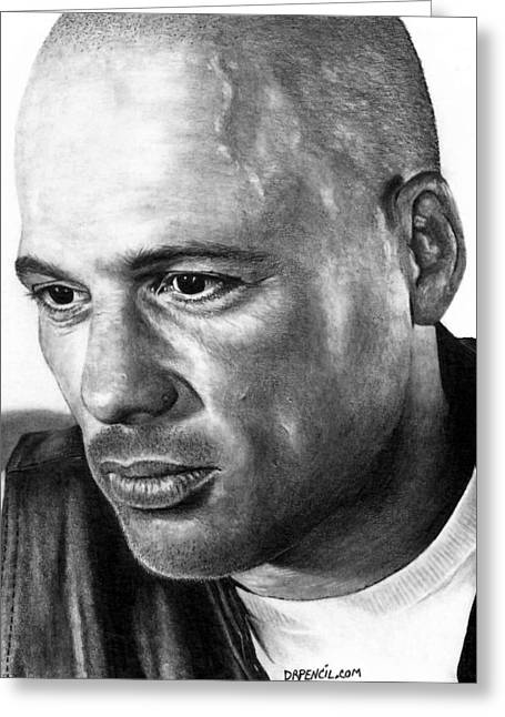 Sons Of Anarchy Greeting Cards - David Labrava as HAPPY Greeting Card by Rick Fortson