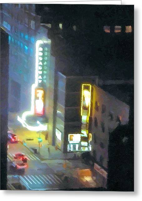 David Letterman Show Theater On Broadway E5 Greeting Card by Bud Anderson