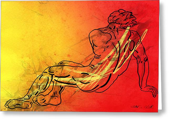 Human Being Greeting Cards - David Greeting Card by Mark Ashkenazi