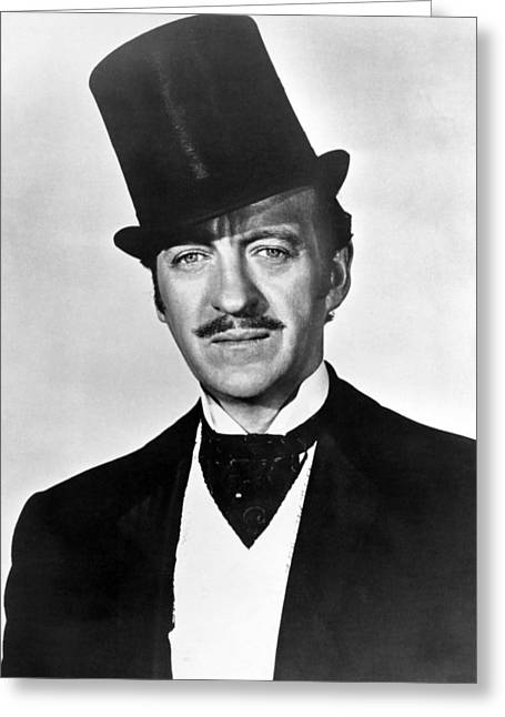 Fantasy World Greeting Cards - David Niven in Around the World in Eighty Days  Greeting Card by Silver Screen