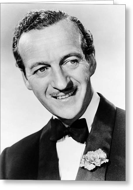 Ohs Greeting Cards - David Niven in Oh, Men! Oh, Women!  Greeting Card by Silver Screen