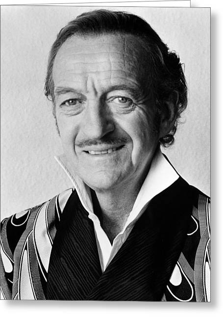 David Niven In Trail Of The Pink Panther  Greeting Card by Silver Screen