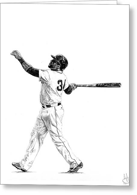 Boston Red Sox Drawings Greeting Cards - David Ortiz Greeting Card by Joshua Sooter