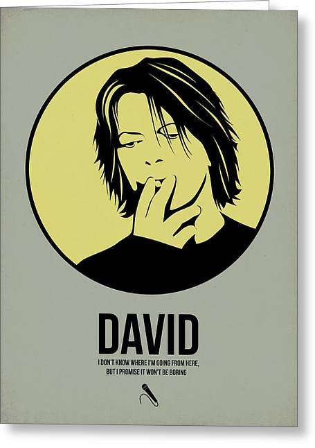 Bowie Greeting Cards - David Poster 4 Greeting Card by Naxart Studio