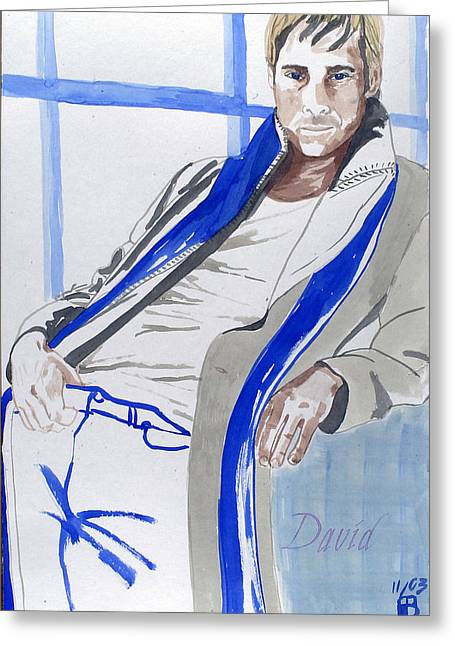 Hands On Belt Greeting Cards - David Greeting Card by Sylvie Proidl