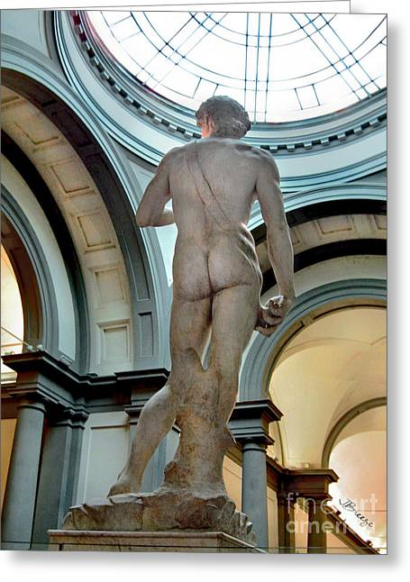 Michelangelo Greeting Cards - DAVID.Florence Greeting Card by Jennie Breeze
