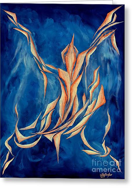 Seraphim Angel Greeting Cards - Davids Angel Greeting Card by Lyn Pacificar