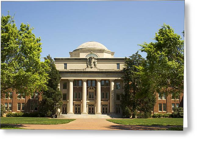 Recently Sold -  - Charlotte Greeting Cards - Davidson College Chambers Building Greeting Card by Orange Cat Art