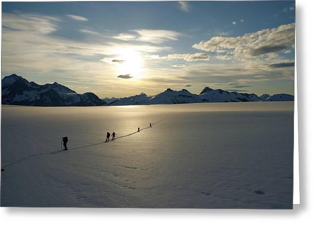 Ryan Fell Greeting Cards - Davidson Glacier - Chilkat Range Greeting Card by Ryan Fell