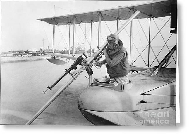 Military Aviation Photos Greeting Cards - Davis Anti-submarine Gun, World War I Greeting Card by Library Of Congress