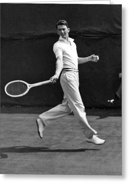 Tennis Champion Greeting Cards - Davis Cup Play Greeting Card by Underwood Archives