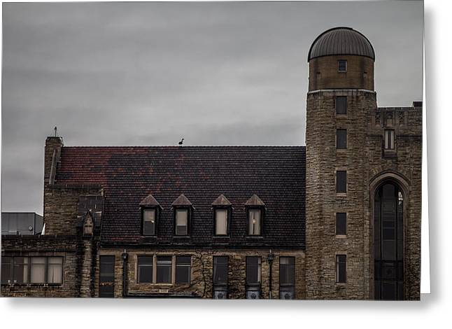 Northern Illinois University Greeting Cards - Davis Hall observatory Greeting Card by Jason Borg