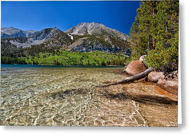 Back Country Greeting Cards - Davis Lake Greeting Card by Cat Connor