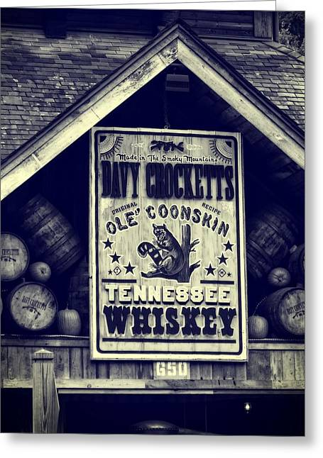 Photography Of Liquor Greeting Cards - Davy Crocketts Tennessee Whiskey Greeting Card by Dan Sproul