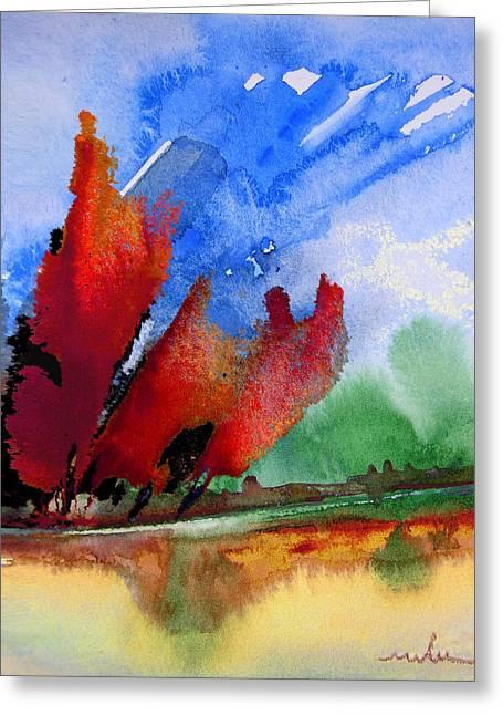Dawn 04 Greeting Card by Miki De Goodaboom