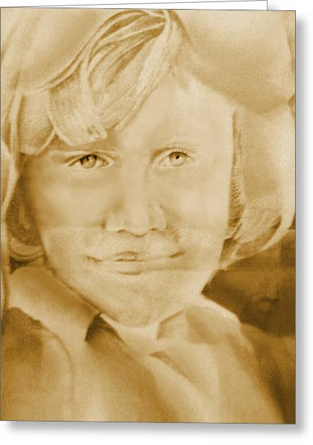Graphite Pastels Greeting Cards - Dawn 1 Greeting Card by Judy Paleologos