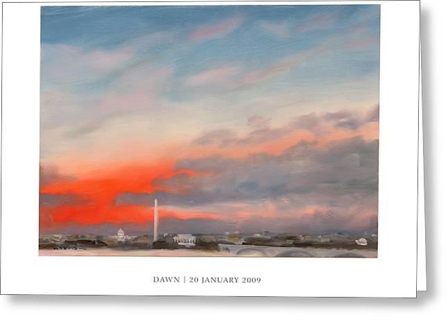 Dawn 20 January 2009 Greeting Card by William Van Doren